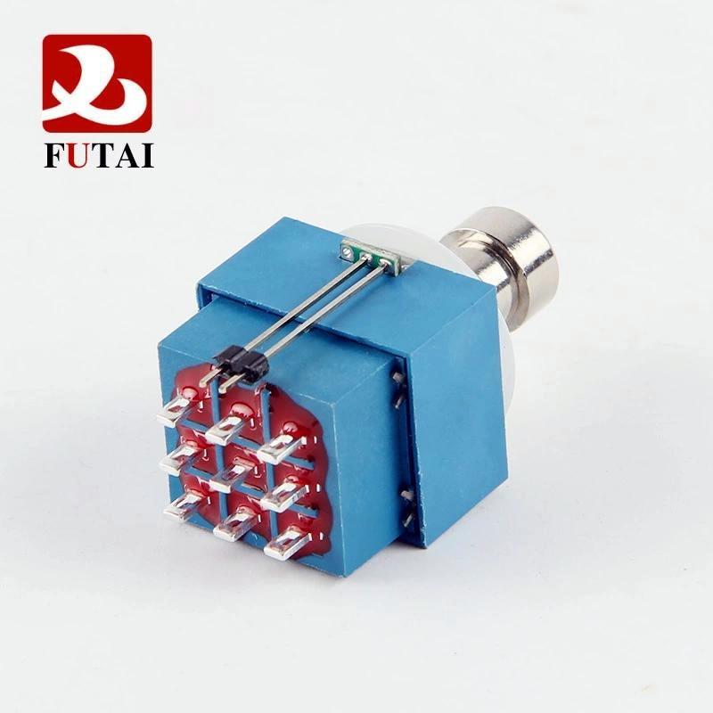 Новинка 1 шт. 3PDT гитарный переключатель кнопочный переключатель фиксация 9 контактов 3PDT несколько вариантов освещения светодиодный с паяль...