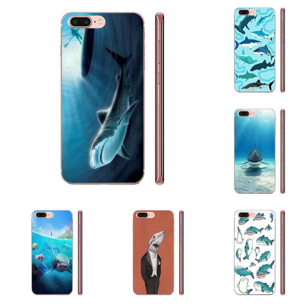 Pastel tiburones papel pintado arte para Galaxy Nota 10 A10E A10S A20S A30S A40S A50S A6S A70S A730 A8S M10S M30S Lite Plus