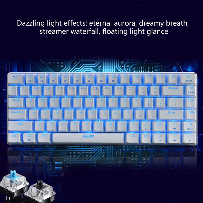 Mechanical Keyboard Ajazz AK33 82 Keys Mechanical Keyboard Russian/English Layout Gaming Keyboard New