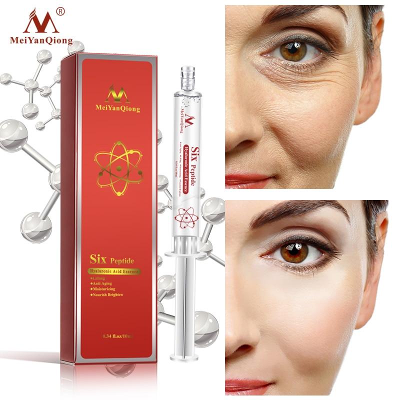 AliExpress - MeiYanQiong Six Peptide Hyaluronic Acid Serum Anti-aging Moisturizing Essence Shrink Pore BrightenRepair Dry Skin Face Treatment