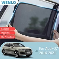 magnetic car sunshade front windshield door mesh frame curtain for audi q7 4m 2016 2021 reflective side window sun shade cover