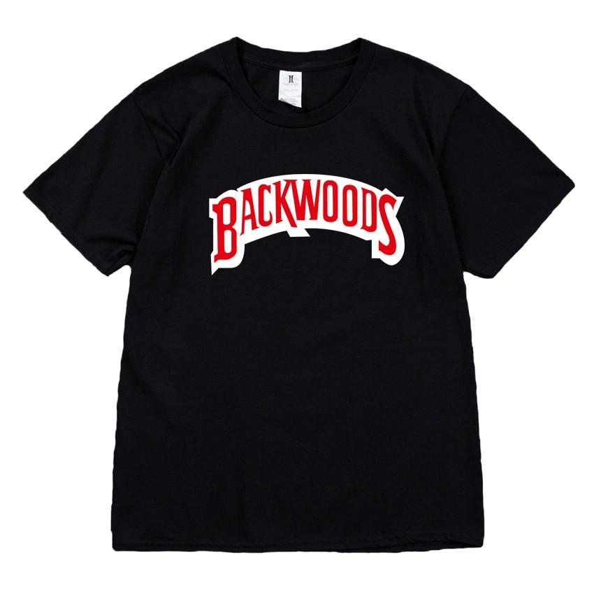 BackWoods Letter logo Unisex Men Women Lovers Couple Style Fashion Cotton Short sleeve Round neck T-shirt boyfriend gift