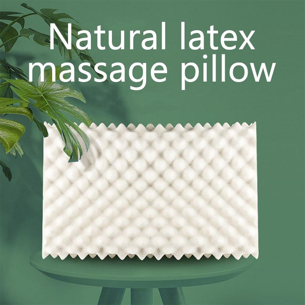 Almohada de látex Natural puro de Tailandia SB, almohada protectora de cuello contorneado suave para adultos, almohada para el hogar antiácaros