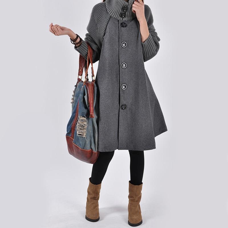 Women's Coat Maternity Clothing Autumn Winter Plus Size Pregnancy Women Jackets Long Loose Knitting