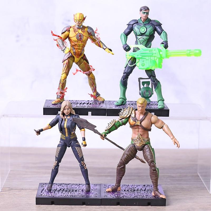 DC injusticia 2 Linterna Verde Flash inverso Aquaman negro canario acción figura juguete de figura de PVC