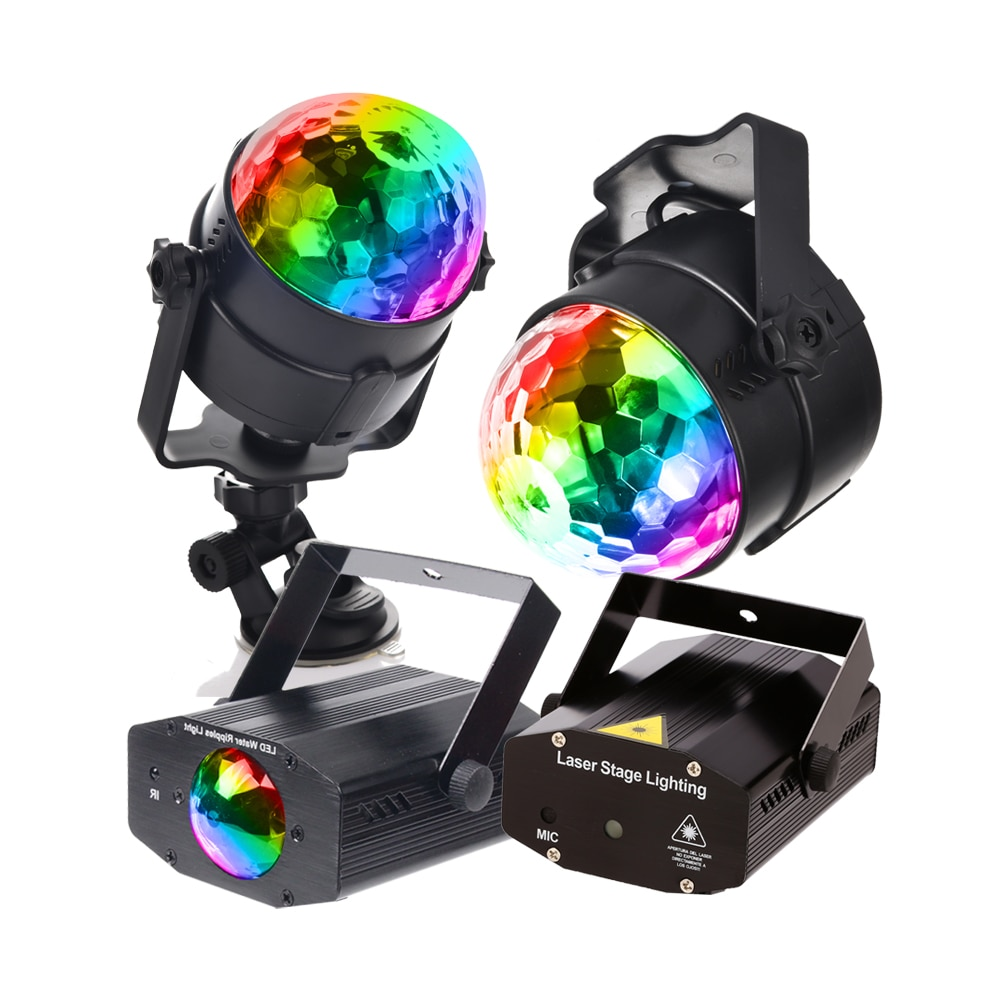 3w usb 5v mini disco ball lamp dj ktv stage light wireless ir remote voice activated lamp home party dance floor rgb light show DJ Party Lights Projetor Disco Ball Lamp RGB 3W IR Remote EU US Plug stage light
