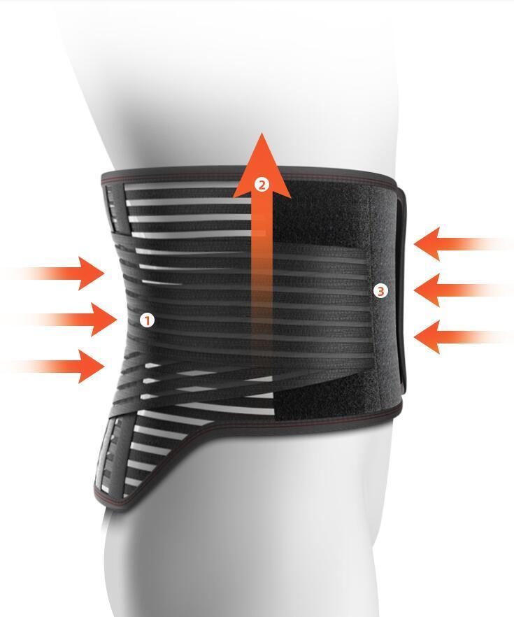 الغضروف الاصطناعي حزام دعم الخصر مرونة عالية تنفس قطني بروز العلاج جهاز أربعة مواسم العالمي