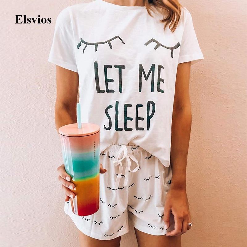 Summer Sleeveless Ruffle Print Two Piece Set 2020 Lace-Up Women Sets Pajama Sleepwear Casual O Neck Suits Nightwear Pijama Femme
