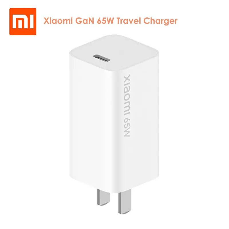 Cargador de viaje Original Xiaomi GaN 65W 48% USB tipo C salida inteligente PD carga rápida 5 V/9 V/12 V/15 V = 3A 10V = 5A 20V = 3.25A