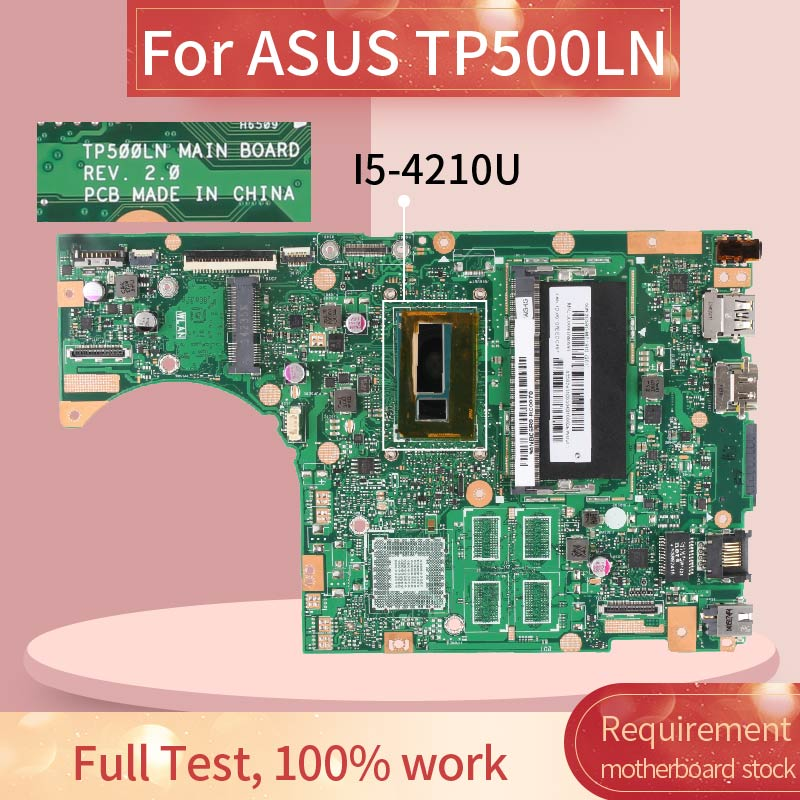 Laptop motherboard For ASUS TP500LN I5-4210U 840M Notebook Mainboard REV.2.0 N15S-GT-S-A2 DDR3L