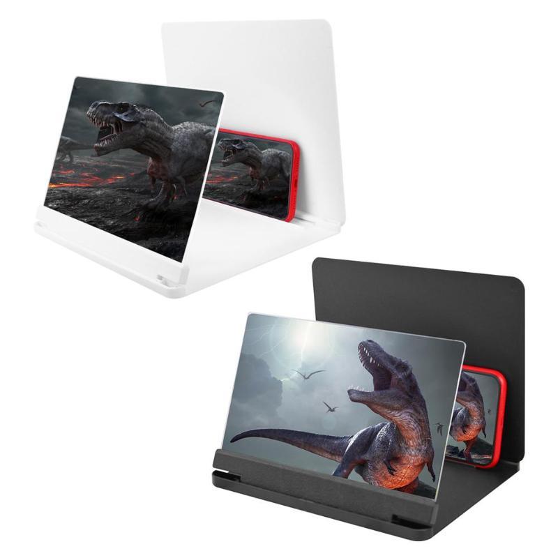 9 pulgadas teléfono móvil pantalla 3D vídeo lupa soporte de escritorio teléfono inteligente película HD amplificación proyector Stand