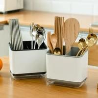 spoon fork chopstick storage box multifunctional double layer storage holder cutlery drain rack organizer rack for kitchen
