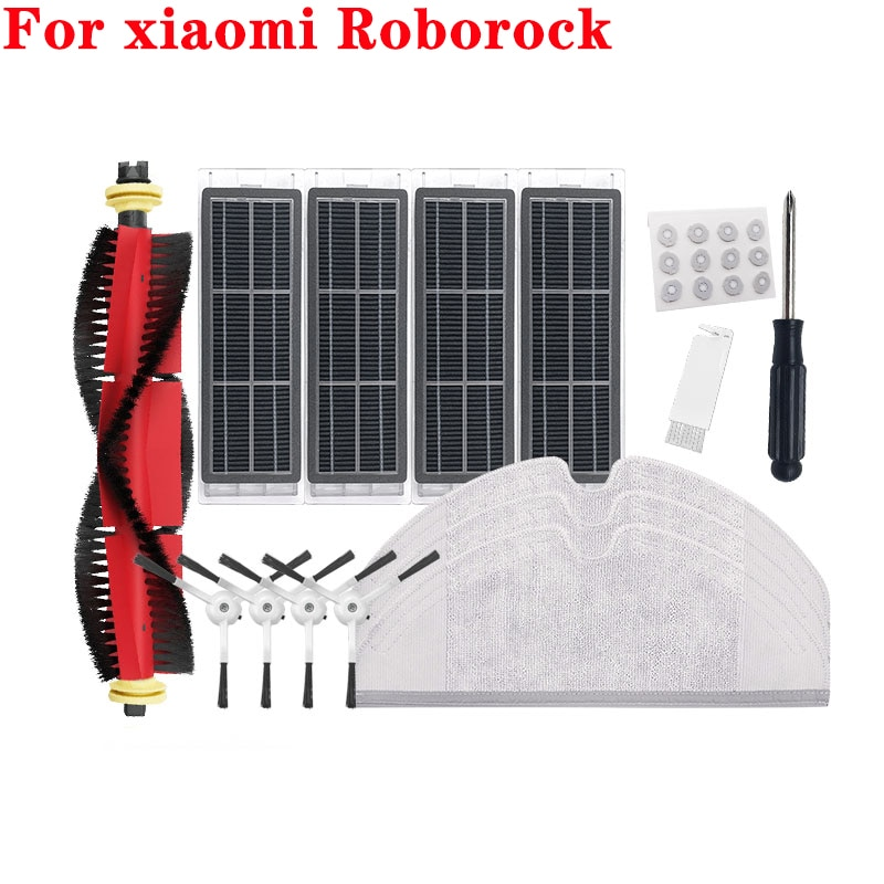 Аксессуары для робота-пылесоса xiaomi mijia Roborock s5 s6, фильтр НЕРА, S50 MAX, основная щетка, насадка на швабру, боковая щетка, Тряпичные детали