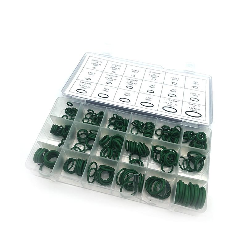 270 unids/lote, 18 tamaños, sistema de CA A/C, junta de estanqueidad, arandela rápida, equipo de reparación de sellos