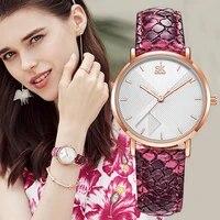 fashion women quartz watches luxury snake leather strap dress wristwatches waterproof luxury womens sports watch zegarek damski