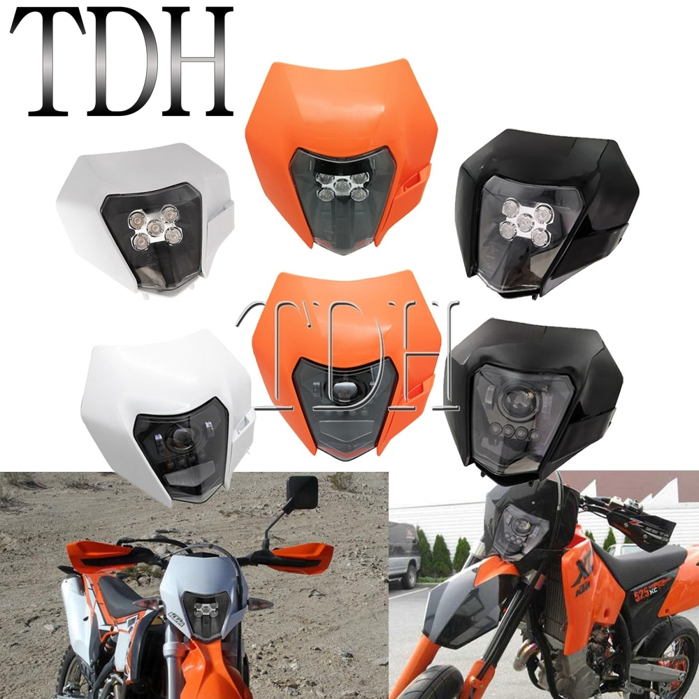 Bicicleta de tierra LED faro DRL HI/LO haz de luz de lámpara frontal para Yamaha Kawasaki Husqvarna TE FE TC 250 de 350 de 450 KTM EXC TPI seis días