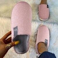 women winter slippers warm home slippers men 2021 soft non slip plush cotton shoes flat sandals ladies girls bedroom slides