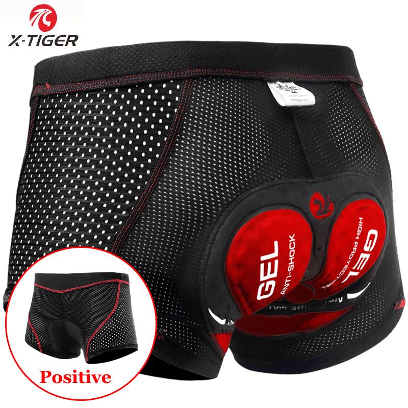 X-Tiger Breathable Cycling Shorts Mesh Men's Cycling Underwear 5D Gel Pad Shockproof MTB Shorts Mountain Racing Bike Underwear