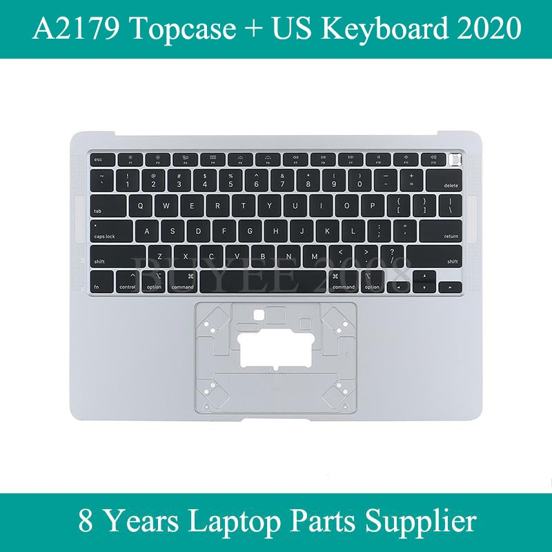 Review Original New A2179 Topcase Top Case Cover 2020 For Macbook Air 13″ A2179 US Keyboard With Palmrest Palm Rest Silver Tested Work