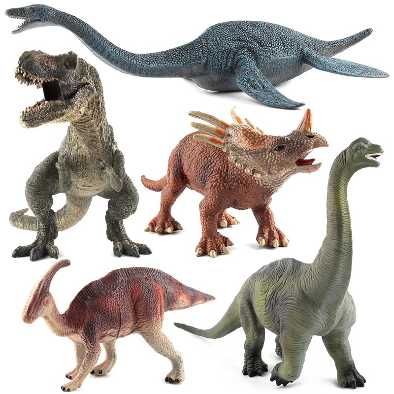 dinosaur animal series many chew toy Baby Toy Animals Dinosaur Figurine Jurassic Dinosaur Series Animal Simulation Model Children's Educational Toys
