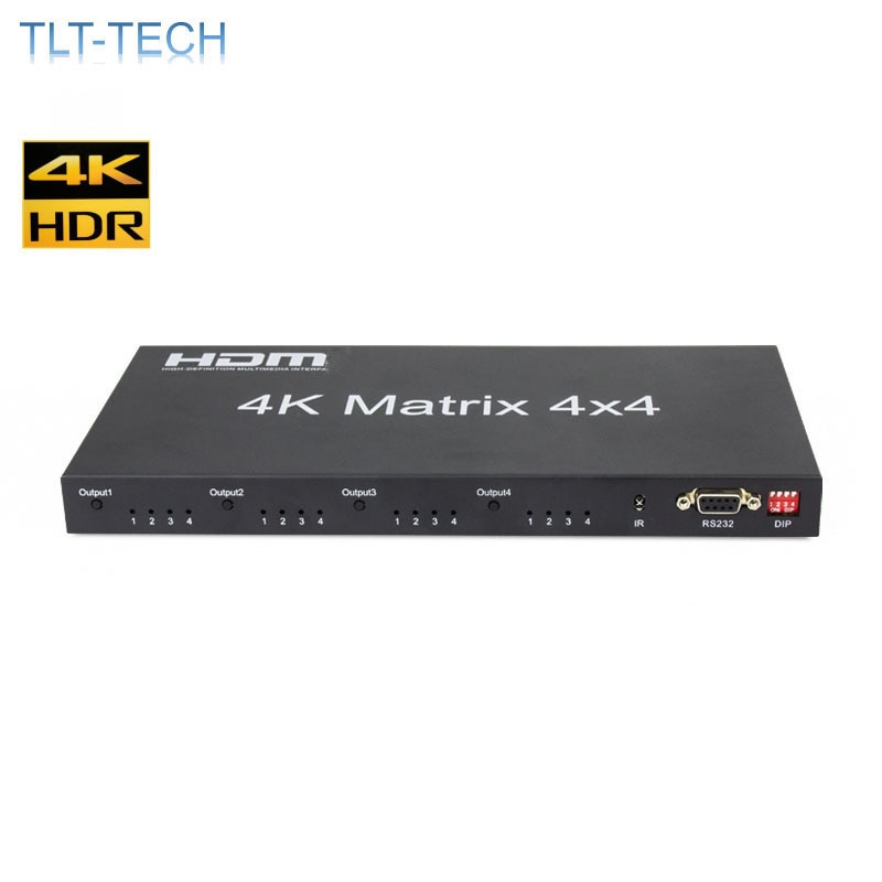 HDMI-2.0 Matrix 4X4 HDMI-compatible Matrix 4X4 HDMI-Splitter Switcher 4 in 4 out Matrix  HDCP 2.2 4KX2K/60HZ HDR enlarge