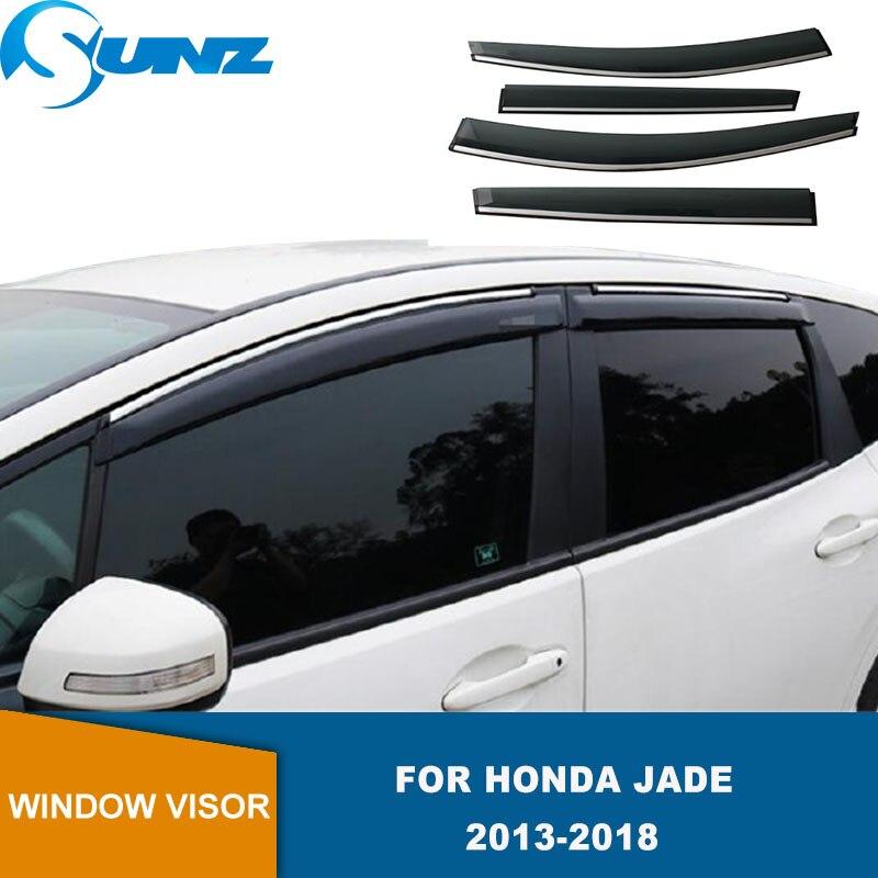 Side Window Deflector For Honda Jade 2013 2014 2015 2016 2017 2018 Window Visor Shade Vent Wind Rain Deflector Guards Cover SUNZ
