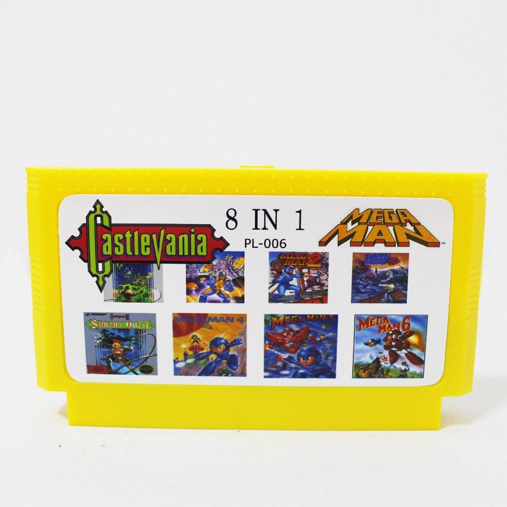 ¡10 unids/lote súper juego 8 en 1 de la tarjeta de juego...