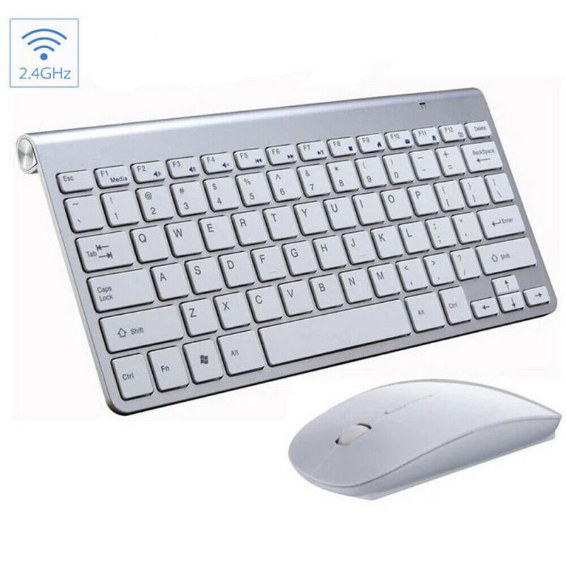 2.4G sans fil silencieux clavier et souris pour ordinateur portable ordinateur de bureau Mini multimédia pleine taille clavier souris Combo ensemble
