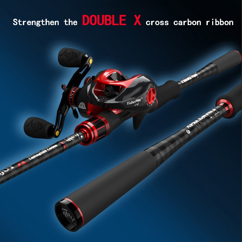 Long Throw Full Carbon Fisihing Lure Rod Spinning Casting Rod With 2 Tips Bait Wt 6-25G Power M/ML/MH All Waters Fishing Tackle enlarge