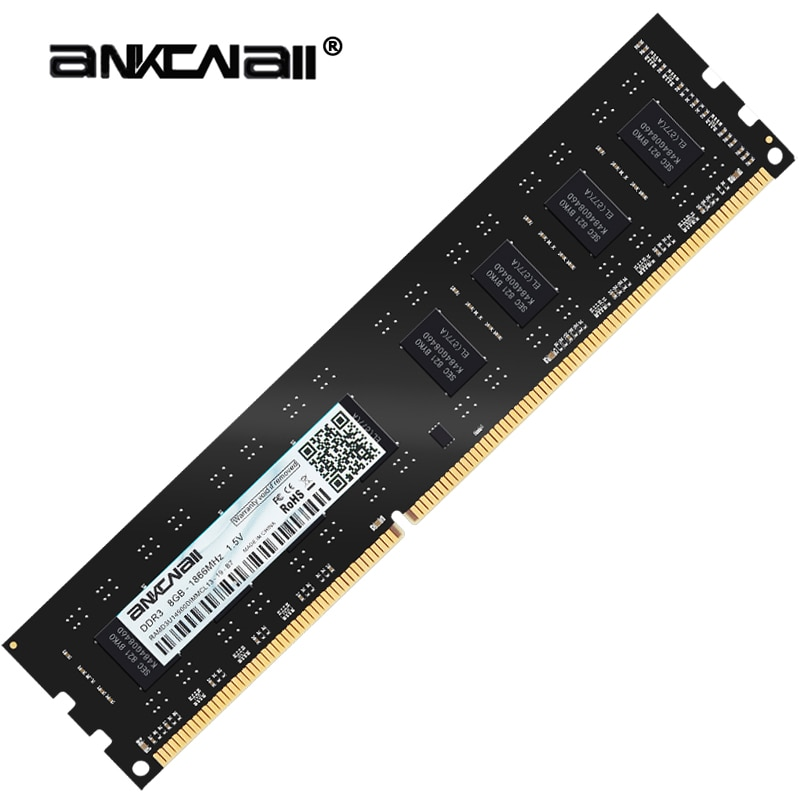 ANKOWALL DDR3 8 GB 4 GB de Memória 1600 Mhz 1333 MHz ram dimm 240pin 1.5 V Área De Trabalho