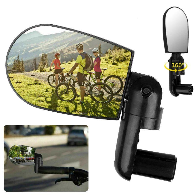 Espejos traseros de bicicleta de rotación de 360 grados espejos retrovisores adecuados para manillar de bicicleta de carretera de montaña MTB