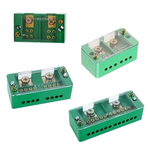 Single Phase 2-IN 4/6/812-OUT Wire Terminal Box Household Distribution Box Terminal Junction Case Holder