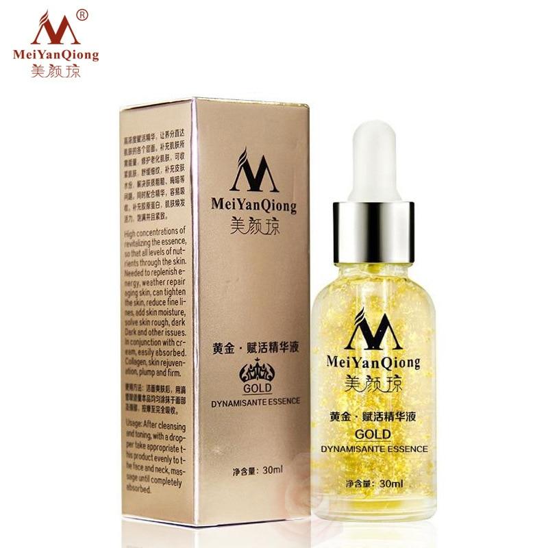 MeiYanQiong Skin Care 24K Gold Essence Day Cream Anti Wrinkle Face Care Anti Aging Collagen Whitening Moisturizing Hyaluron недорого