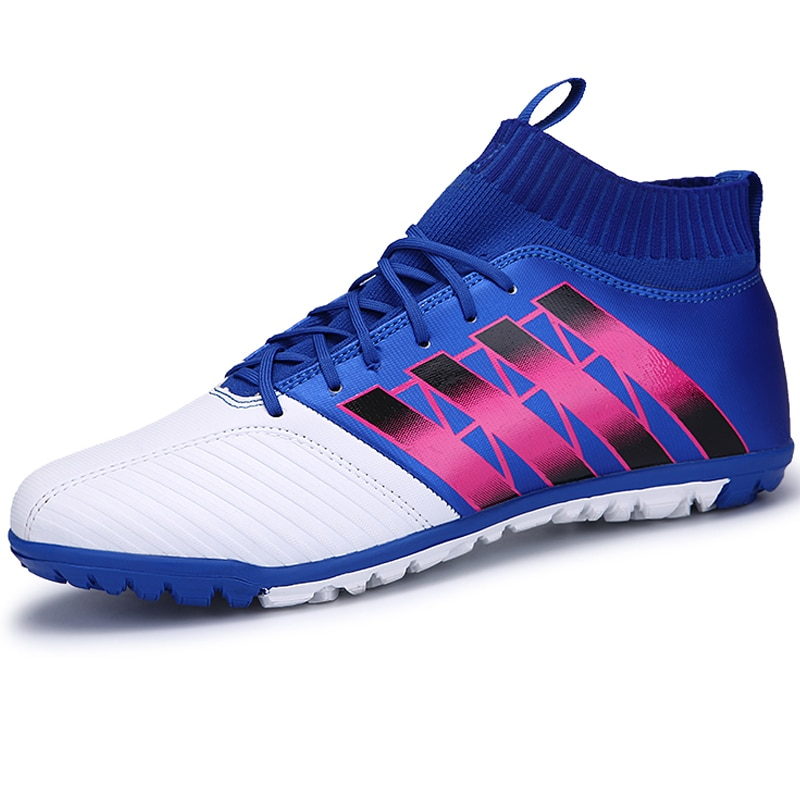 Big Boys Soccer Shoes High Top Indoor Football Boots Kids Sneakers Ankle Cleats Zapatillas Children Boy Trainers