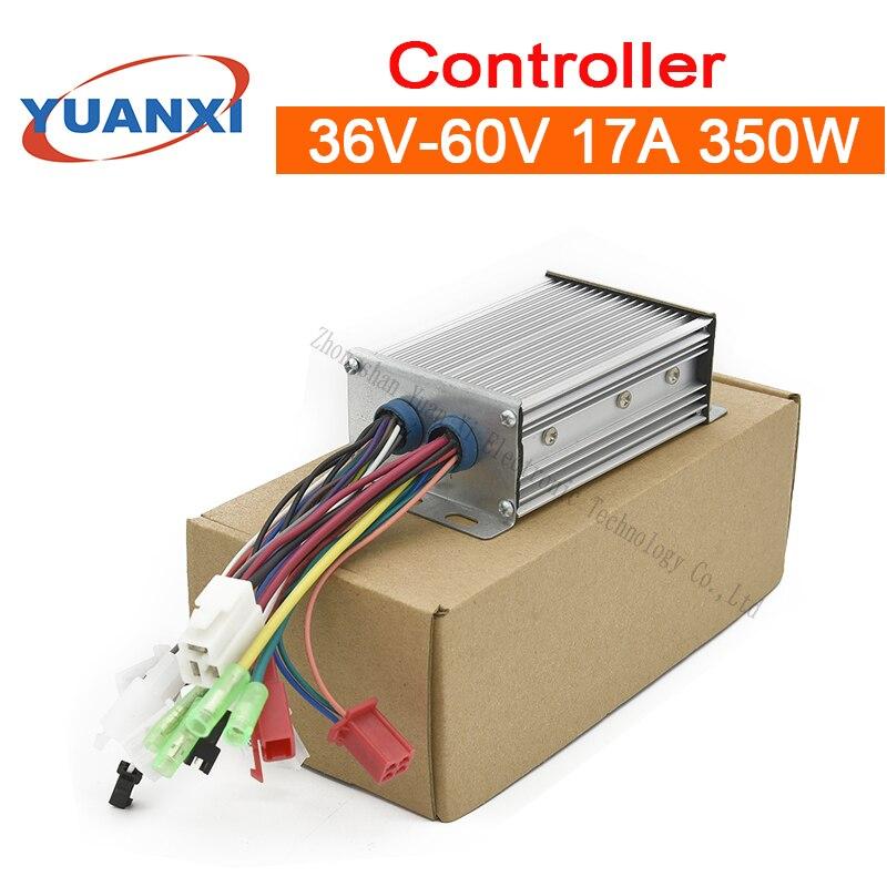 Controlador de coche eléctrico silencioso 36V/48V/60V 17A 350W inteligente sin escobillas de tres modos universal