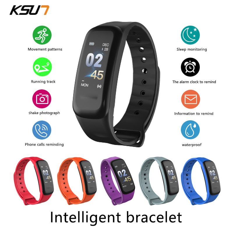 KSUN KSS709 Smart Watch Men Women  Fitness Bracelet Tracker Heart Rate Smartwatch Sport Watch Smart