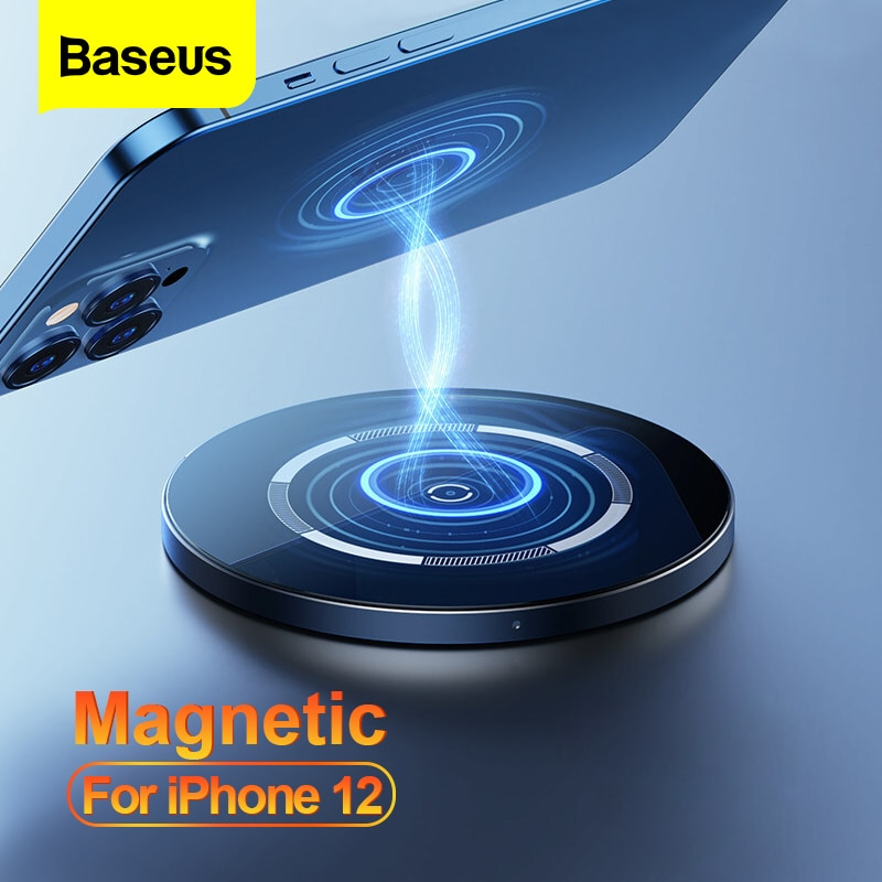Baseus-شاحن مغناطيسي لاسلكي Qi ، شحن سريع ، لـ iPhone 12 Pro Max PD 15W ، mini 11 XS XR