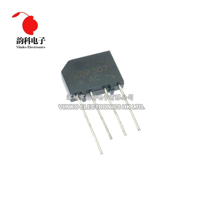 10 sztuk KBP307 3A 1000V diodowy mostek prostowniczy KBP 307 komponenty elektroniki diody mocy