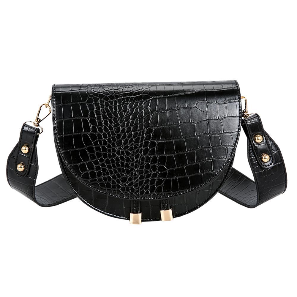 Bolso bandolera con diseño de cocodrilo de lujo para mujer, bandolera de piel sintética, bolso de hombro, bolso principal para mujer, 2020
