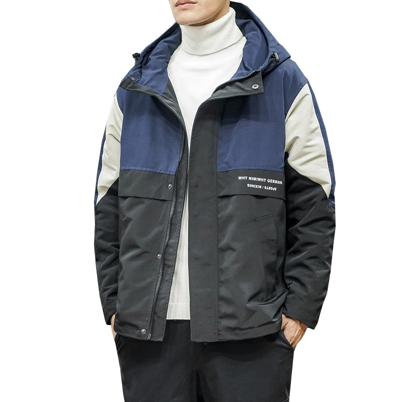 Куртка мужская осенняя и зимняя Толстая теплая Новая трендовая куртка Молодежная куртка с капюшоном мужская JacketM-5XL