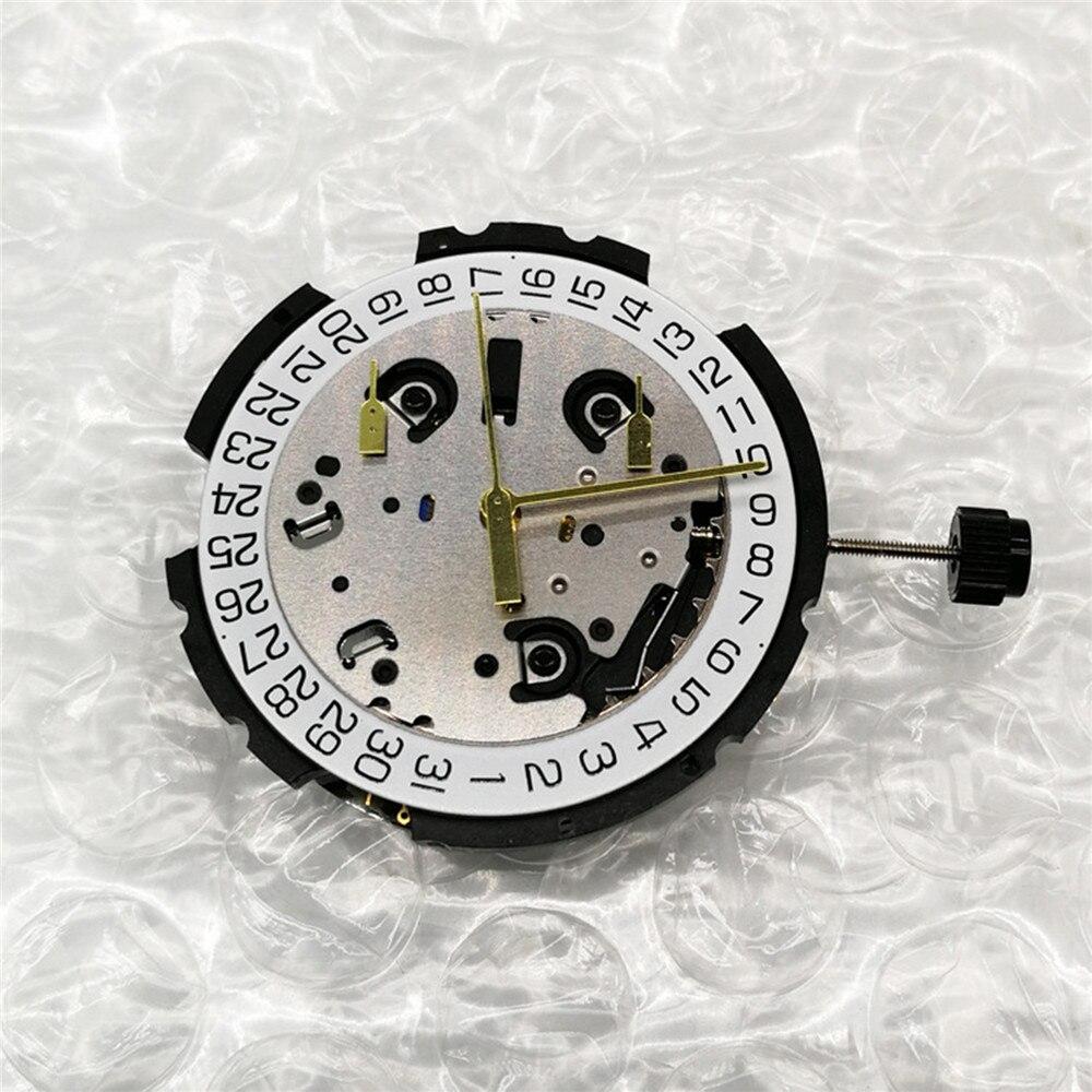 حركة الساعة ل ETA G10.211 حركة الكوارتز مع الجذعية و بطارية 6 دبوس تاريخ في 4 'اكسسوارات الساعات إصلاح أجزاء