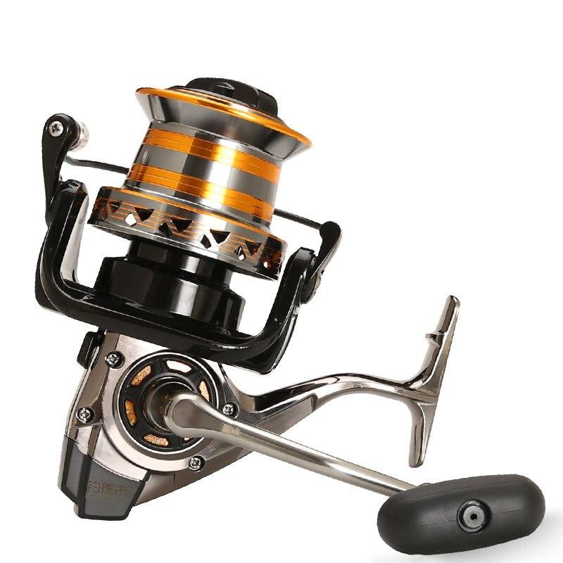 Distante jogar carretel de pesca dh 9000-12000 série 13 bb metal bisel copo reservatório de água doce isca pesca roda distante