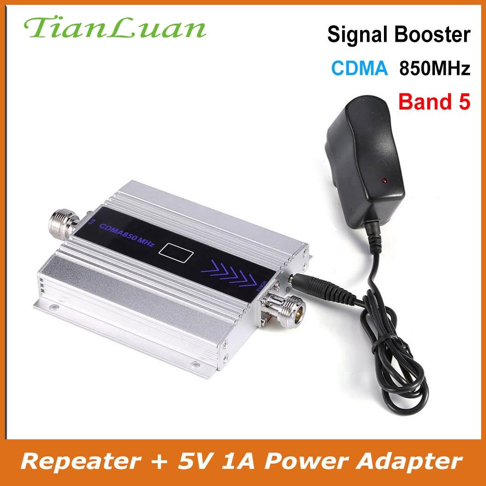 TianLuan Band 5 repetidor de señal CDMA para teléfono móvil 850 MHz amplificador de señal 2G 3G 4G LTE 850 MHz amplificador de señal para teléfono móvil
