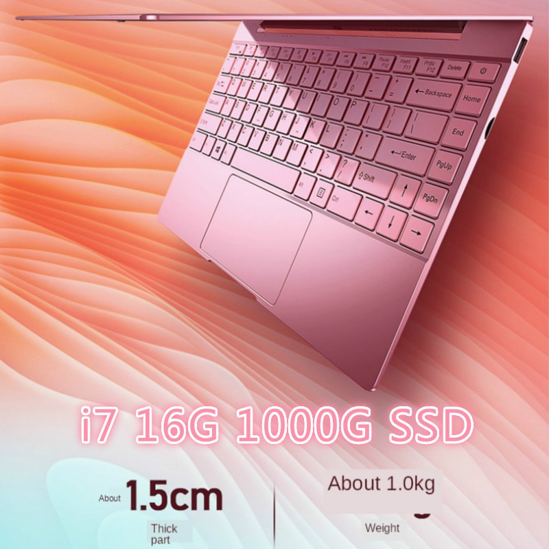 Promo 14 Inch Pink Laptop Cute Notebook Computer Girls Core I7 or Celeron 3867U Ultra-Thin Portable Business Gaming School Green