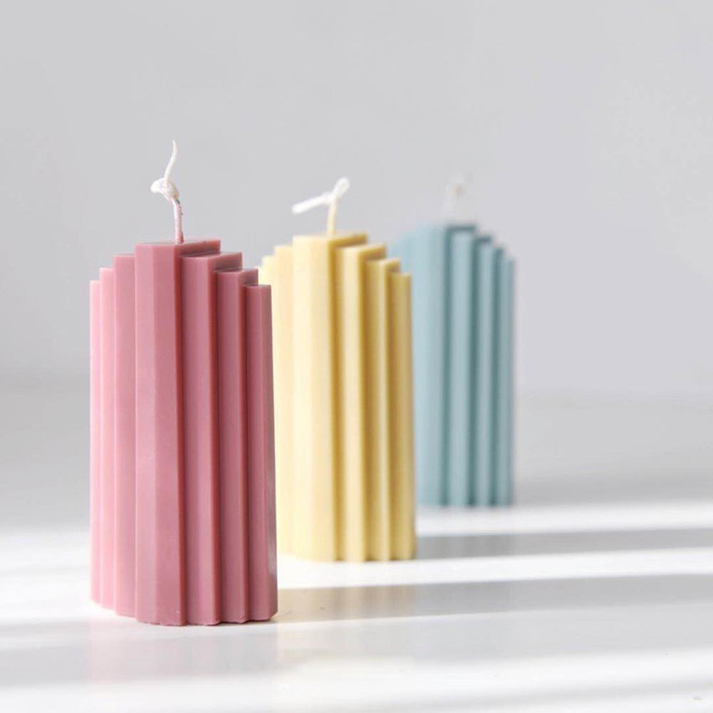Nuevo molde de vela artesanal DIY, molde de vela perfumado Trapezoidal Iceberg