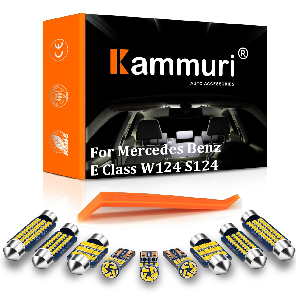 KAMMURI 14 Uds juego de luz interior LED para Mercedes Clase E...