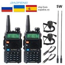 2pc Baofeng UV-5R Walkie Talkie VHF UHF versión de la mejora de la estación de Radio 5W portátil baofeng uv5r Radio de dos vías al aire libre cb radio
