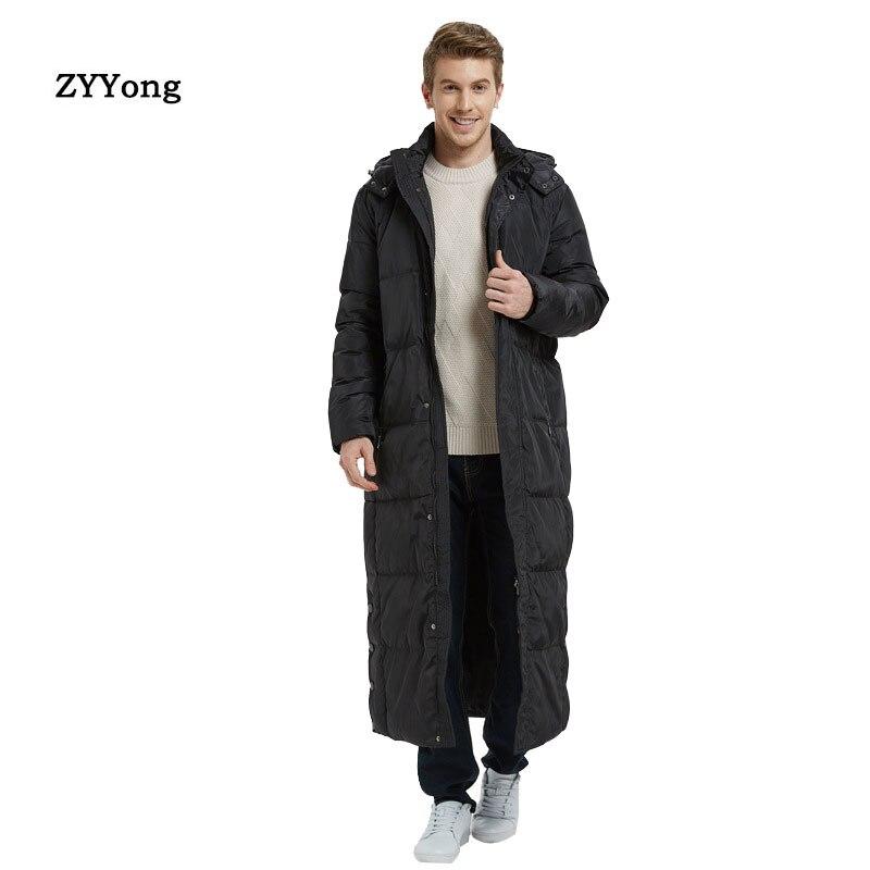 Мужское супер длинное пальто 2020, зимняя длинная куртка до колен, толстая Высококачественная деловая Мужская Уличная зимняя куртка большого...