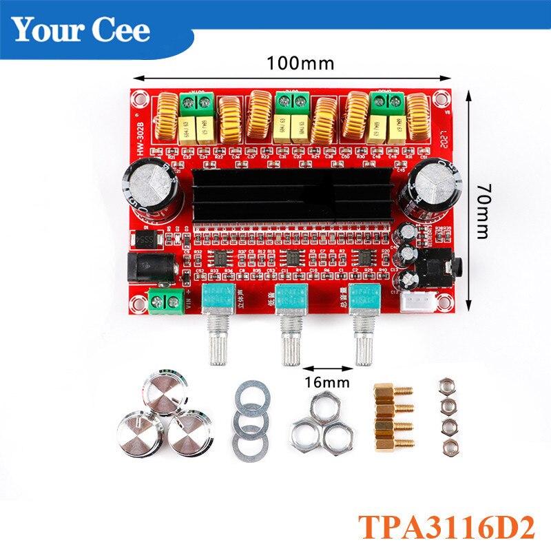 TPA3116D2 placa amplificadora de potencia módulo 2,1 canales de Audio Digital de...