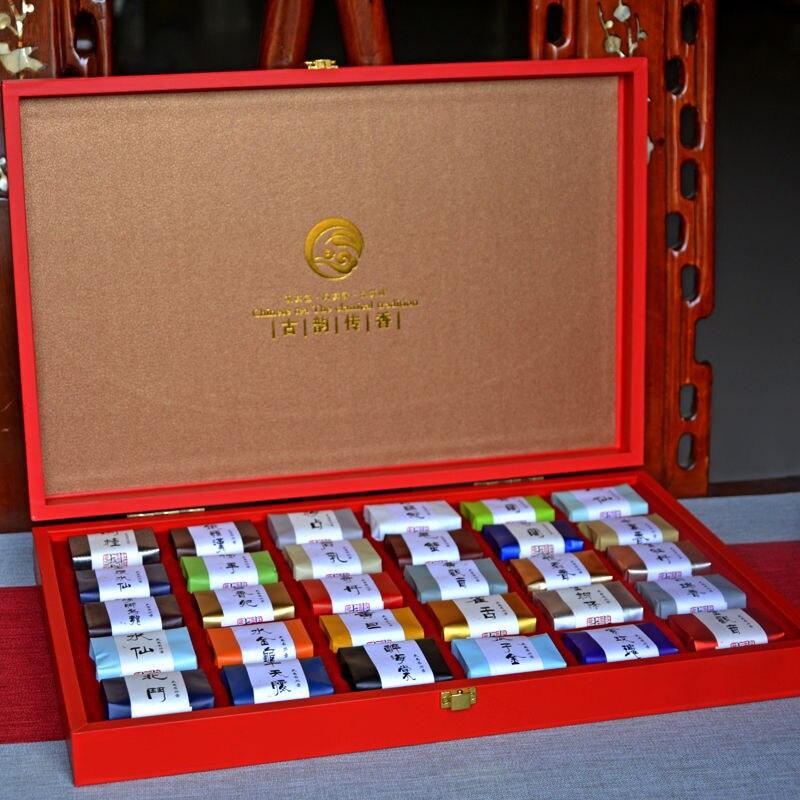 30 كلاسيكي WuYi روك الشاي Giftbox التقليدية اليدوية ، سجل التنوب الشهير ، رائحة فريدة من نوعها ، 250g كيس شاي الغذاء الصحي العضوي